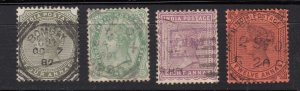 J28304 1882-7 india part of set used #42-5 queen