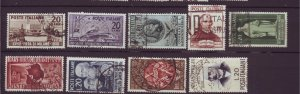 J22635 Jlstamps 1950 italy sets of 1 used #531-up designs