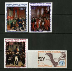 Mauritania Stamps # C81-4 VF OG NH Imperf
