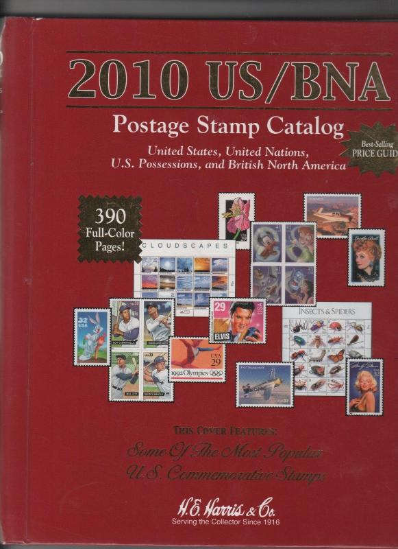2010 US/BNA POSTAGE STAMP CATALAGUE by Harris 283  0418