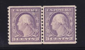 493 Pair VF-XF original gum mint lightly hinged with nice color  ! see pic !