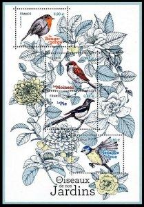HERRICKSTAMP NEW ISSUES FRANCE Sc.# 5454 Birds 2018 Souvenir Sheet