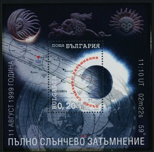 Bulgaria 4086 MNH Space, Total Solar Eclipse