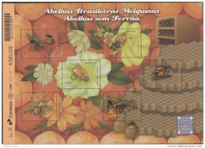 RO) 2015 BRAZIL, BEES, INSECTS HYMENOPTERA, ANTOFILOS, BEE HONEY - FOOD, PANELS