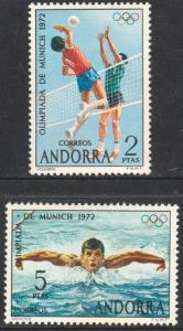 ANDORRA (SPANISH) 67-68.MUNICH OLYMPIC GAMES. MNH. F-VF. (99)