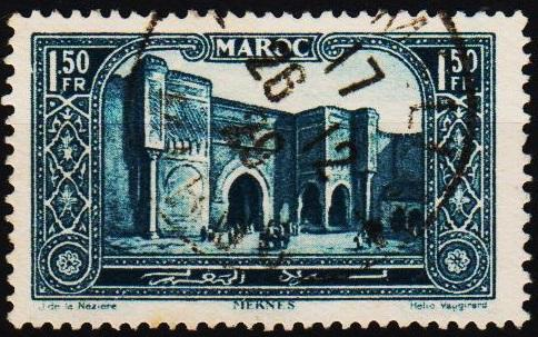 Morocco(French). 1917 1f50 S.G.144 Fine Used