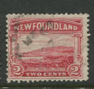 Newfoundland - Scott 132 -Pictorial Definitive Issue -1923 - FU -Single 2c Stamp