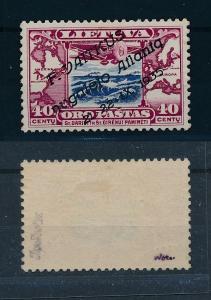 [45201] Lithuania 1935 Vaitkus flight  Signed 2x VF MLH
