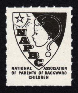 REKLAMEMARKE POSTER STAMP NATIONAL ASSOCIATION OF PARENTS OF BACKWARD CHILDREN