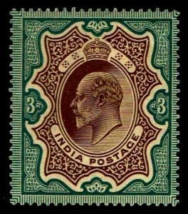 1904 India #52 King Edward VII Watermark 39 - OGXLH - F/VF - CV$50.00 (ESP#3837)