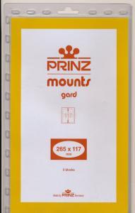 Prinz SCOTT Stamp Mount 117/265 BLACK Background Pack of 5