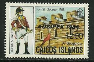 Caicos Islands # 49, Mint Never Hinge