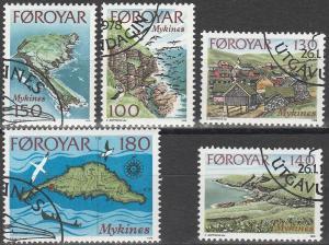 Faroe Is #31-5 F-VF Used CV $2.70 (V1969)