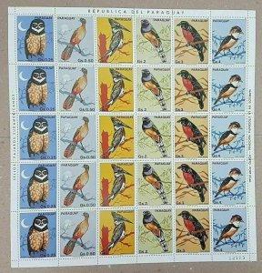 EC120 1983 PARAGUAY FAUNA BIRDS !!! MICHEL 23 EURO BIG SH FOLDED IN 2 MNH