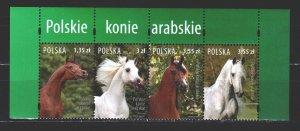 Poland. 2007. 4323-26. Horses. MNH.