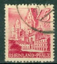 Germany - French Occupation - Rhine Palatinate - Scott 6N10