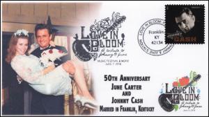 18-151, 2018, Love in Bloom, Pictorial Postmark, Johnny Cash, June Carter Event