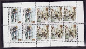 Guernsey-Sc#295a-unused NH miniature sheet of 10-1984-85-
