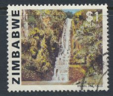 Zimbabwe  SG 589  SC# 427 Used    Bridal Veil Falls  see detail and scan