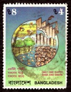 Bangladesh TK.4/- Environmental Pollution Control 1992 Sc.408 Used (#2)