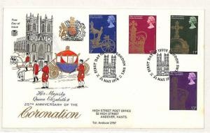 GB FIRST DAY COVER 25th Anniversary Coronation Andover Illustrated FDC 1978 W128