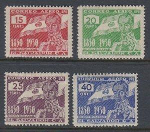 El Salvador 1930 Bolivar Centenary Set LM Mint. Scott C15-C18