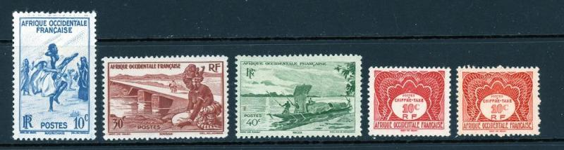 French West Africa Lot 5 Stamps Mint (NH)
