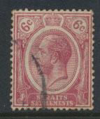 Straits Settlements George V  SG 228  Used Rose Pink