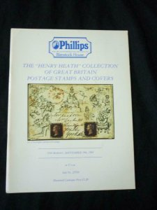 PHILLIPS AUCTION CATALOGUE 1985 GREAT BRITAIN 'HENRY HEATH' COLLECTION