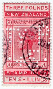 (I.B) New Zealand Revenue : Stamp Duty £3 10/- (Otago)