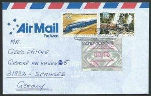 AUSTRALIA 1994 cover to Germany - nice franking - Sydney Monorail pmk......12810