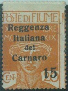 87864  - ITALIA: FIUME  - VARIETA'  Error - Sassone 136 Nuovo Linguellato * MH