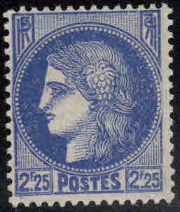 France Scott 337 MH* Ceres stamp from 1938-1940 set