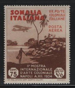 SOMALIA, C3, HINGED, 1934, VIEW OF COAST