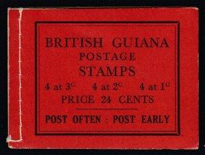 British Guiana, SG SB9ac, complete booklet