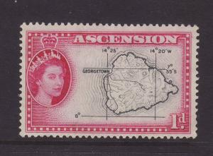 1956 Ascension 1d Mounted Mint SG58
