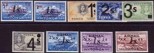 TONGA 1969 Provisional overprint set MNH...................................36229