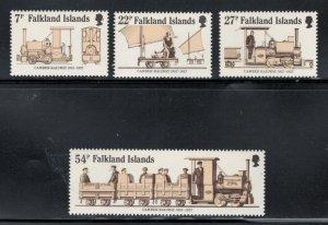 Falkland Islands 1985 Camber Railway Scott # 416 - 419 MNH