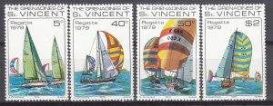 St. Vincent MNH 166-9 Sail Boats 1979