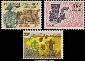 Vietnam Scott 398-400 Mint never hinged.