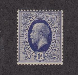 Great Britain, 1912 1p indigo KGV Essay for 1912 Int'l Stamp Expo, London