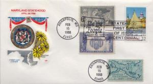 United States, First Day Cover, Maryland