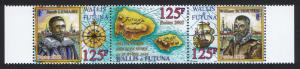 Wallis and Futuna Discovery of Futuna strip of 3v SG#804-806 SC#558