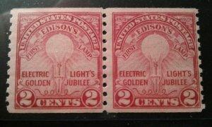 US #656 MNH pair e198.5003