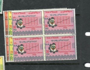 KUWAIT  (P0106B)  CENSUS   SG 496-8     BL OF 4   MNH