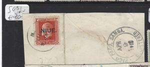 NIUE   (PP0310B)  ON NZ  KGV 1/-  SG 31 ON PIECE   VFU