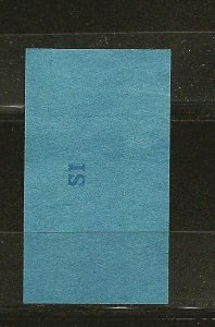 USA USIR Series 125 Cigarettes Class A20 SI Stamp Used
