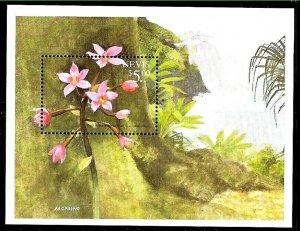 #8168 NEVIS 1999 FLOWERS ORCHIDS FLORA S/SHEET YV BL 175 MNH