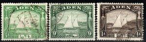 Aden #1-3  F-VF Used CV $9.00  (X877)