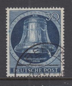 Berlin Sc 9N78 used 1952 30pf Freedom Bell, VF